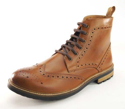 Frank James Hackney Tan Brogue Boots